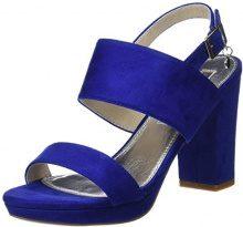 XTI 30753, Scarpe con Cinturino alla Caviglia Donna, Blu (Blue), 38 EU