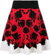 Alexander McQueen - floral print skirt - women - Viscose/Polyester/Polyamide/Spandex/Elastane - S - RED
