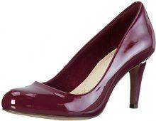 Clarks Carlita Cove - Scarpe con Tacco Donna, Colore Viola (Plum Patent), Taglia 41 EU