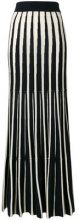 N.Peal - cashmere Long contrast stripe skirt - women - Cashmere - S, M - BLUE