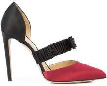 Chloe Gosselin - bow front stiletto pumps - women - Silk Satin/Leather - 40, 36, 37, 39 - Nero