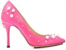 Charlotte Olympia - Scarpe pumps decorate 'Bacall' - women - Silk - 38, 36, 36.5, 38.5, 40 - PINK & PURPLE