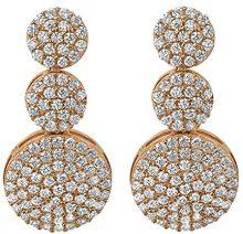 Orphelia–Orecchini pendenti da donna in argento 925parzialmente placcato oro con zirconi bianchi taglio rotondo–zo 7000
