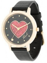 Karl Lagerfeld - Orologio 'Camille Valentine' - women - Leather/stainless steel - OS - BLACK