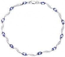 Naava Bracciale da Donna, Oro Bianco, 9 Carati 375, Diamante