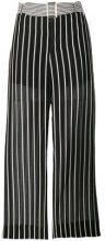 Twin-Set - Pantaloni crop a righe - women - Silk/Cotone - 40, 42, 44, 46, 38, 48 - Nero