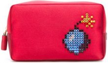 Anya Hindmarch - 'Bomb' clutch - women - Satin Ribbon - OS - RED