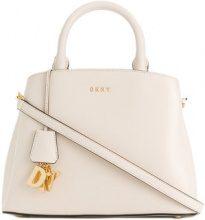 DKNY - medium logo tote bag - women - Leather - OS - WHITE
