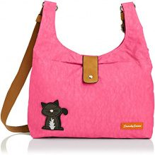 SwankySwansCindy Cat - Borsa tote Donna, Rosa (Pink (Light Pink)), Taglia Unica
