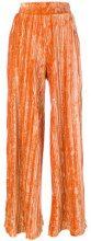 Aviù - Pantaloni plissé - women - Polyester/Spandex/Elastane - 42, 40, 44 - YELLOW & ORANGE
