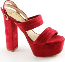 Sandali Divine Follie  8857 rosso sandali donna tacco plateaux cinturino