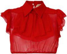 Nº21 - Camicia crop trasparente - women - Silk - 42, 44 - RED
