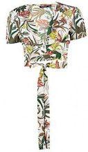 Olivia Safari floreale a portafoglio con Top corto con allacciatura