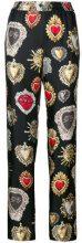 Dolce & Gabbana - Pantaloni 'Sacred Heart' - women - Silk - 42 - Nero