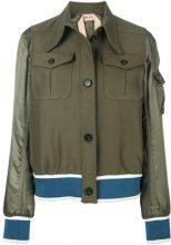 - Nº21 - designer bomber jacket - women - fibra sintetica/cotone - 40, 42, 44 - di colore verde