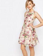Oasis - Vestito a pieghe in organza floreale