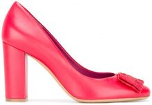 Salvatore Ferragamo - fringed pumps - women - Leather - 35.5, 36, 37, 37.5, 38.5 - RED