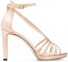 Jimmy Choo - Sandali 'Federica 100' - women - Calf Leather/Leather - 36, 37, 39, 40, 41 - PINK & PURPLE