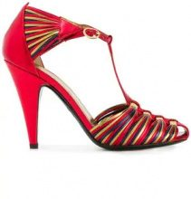 Philosophy Di Lorenzo Serafini - Pumps con motivo intrecciato - women - Leather - 36, 38, 39, 40 - Rosso