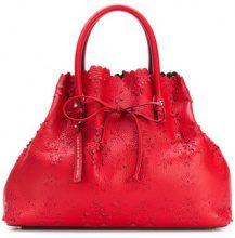 Ermanno Scervino - Borsa tote con fiori intagliati - women - Leather - OS - RED