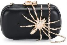 Corto Moltedo - Susan C Star clutch bag - women - Calf Leather/Brass/Silk Satin - OS - BLACK