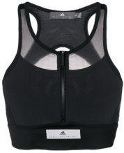 Adidas By Stella Mccartney - Maglia compression con pannelli a rete - women - poliestere riciclato/Spandex/Elastane - S, M - BLACK