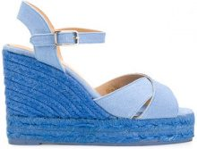 Castañer - Sandali 'Blaudell' - women - Leather/Canvas/rubber - 37, 38, 39, 41 - BLUE