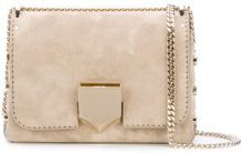 Jimmy Choo - Lockett shoulder bag - women - Calf Leather - OS - NUDE & NEUTRALS