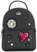 Kate Spade - Zaino con applicazioni - women - Leather/Polyester/Polyurethane - OS - BLACK