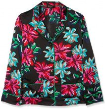 Juicy Couture Giacca Donna, Multicoloured (Pitch Black Baltic Floral), 40 (Taglia produttore:M)