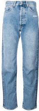 Off-White - contrasting jeans - women - Cotton/Polyester - 27, 28, 26, 24, 29 - BLUE