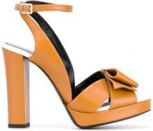 - Lanvin - Sandali con fasce incrociate - women - Leather/Calf Leather - 37, 37.5, 38, 38.5, 39 - Giallo & arancio
