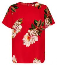 ONLY Printed Short Sleeved Top Women Red