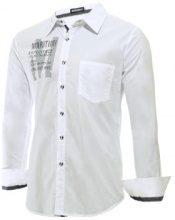 Camicia con scritta & taschino