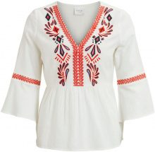 VILA Embroidered Detailed - Blouse Women White