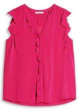 edc by Esprit 077cc1f017, Camicia Donna, Rosa (Dark Pink 650), Large