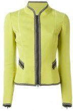 Moschino Vintage - Giacca con bordi a contrasto - women - Cotone - 42 - GREEN