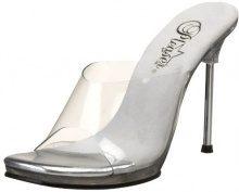 Pleaser Chic01/c/m, Scarpe col tacco classiche donna, color Trasparente (Clear), talla 40.5