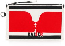 Sonia Rykiel - Pochette 'Baiser' - women - Cotton/Calf Leather - One Size - NUDE & NEUTRALS
