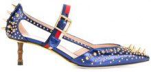 Gucci - Sylvie Web strap pumps - women - Leather/metal - 38, 39, 40, 41, 36.5, 37, 38.5 - BLUE