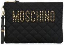 Moschino - Clutch - women - Leather/Acrylic/Polyamide - OS - BLACK