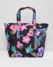 Herschel Supply Co - Maxi borsa oversize con stampa tropicale con ananas - Multicolore