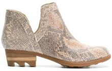 Sorel - embossed ankle boots - women - Leather/rubber - 5, 6, 7, 8, 9, 10 - NUDE & NEUTRALS