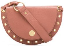 See By Chloé - cross body satchel - women - Calf Leather/Cotton - OS - PINK & PURPLE
