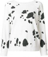 - Marc Jacobs - Felpa con stampa maculata - women - Cotone - L - Bianco