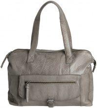 PIECES Leather Shoulder Bag Women Grey