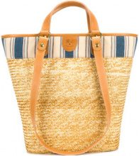 Il Bisonte - Borsa a spalla - women - Straw/Cotone/Leather - OS - NUDE & NEUTRALS