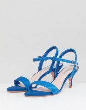 Sandali in due parti blu acceso con tacchetto a spillo