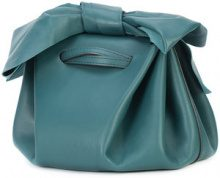 Zac Zac Posen - bow detail drawstring crossbody bag - women - Calf Leather - OS - Verde