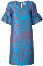 Ultràchic - Vestito con stampa a giraffa - women - Polyester - 42, 44 - BLUE
